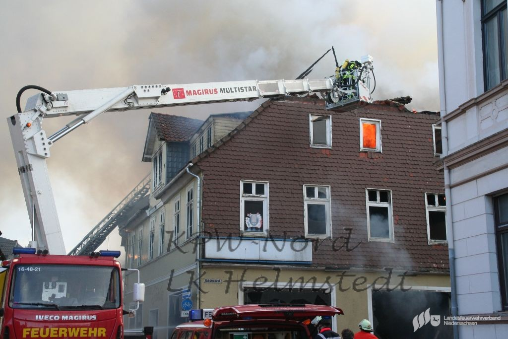 02022015 Feuer Zerstört Möbelhaus In Helmstedt