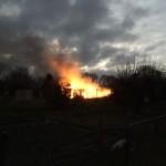 12.01.2017 – Gartenlaube komplett ausgebrannt
