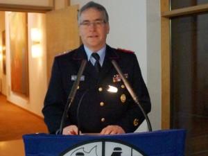 LFV-Präsident Karl-Heinz Banse während seiner Ansprache.