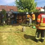 17.05.2017 – Heckenbrand bei Gartenarbeiten