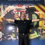 Feuerwehrpräsident Olaf Kapke startet Aufruf der FEUERWEHREN