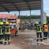 Feuer auf Gelände von Entsorgungsbetrieb in Aschendorf